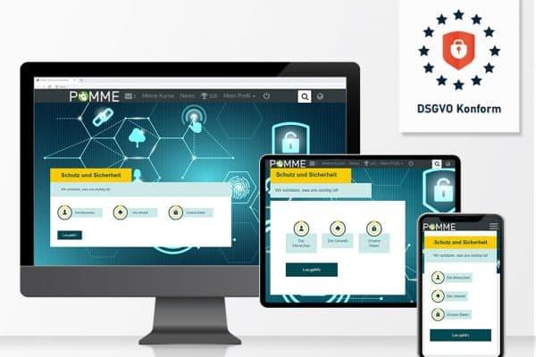 e-learning plattform_pomme_responsivedesign_dsgvo